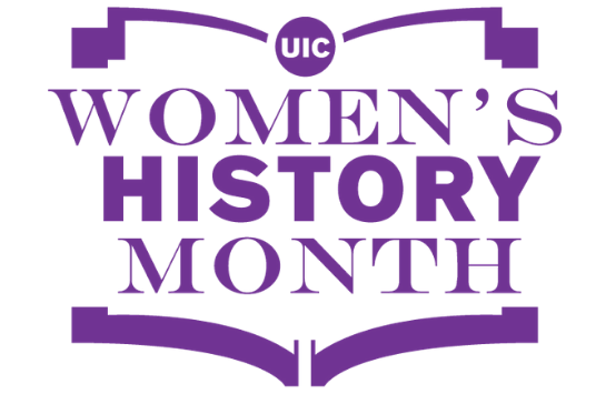 UIC Women's History Month logo in purple